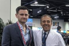 Chris Salierno with Kianor Shah