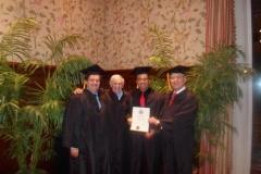 Kianor Shah with Irwin Smigel, George Freedman, David Hoexter