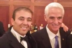 Kianor Shah with Governor Charlie Crist
