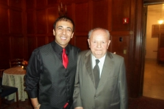 Kianor Shah with Bernard Weissman
