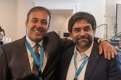 Kianor Shah with Dean Ahmed