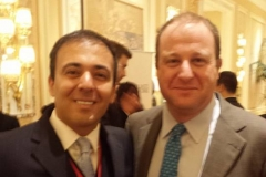 Kianor Shah with Jared Polis