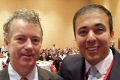 Rand Paul with Kianor Shah